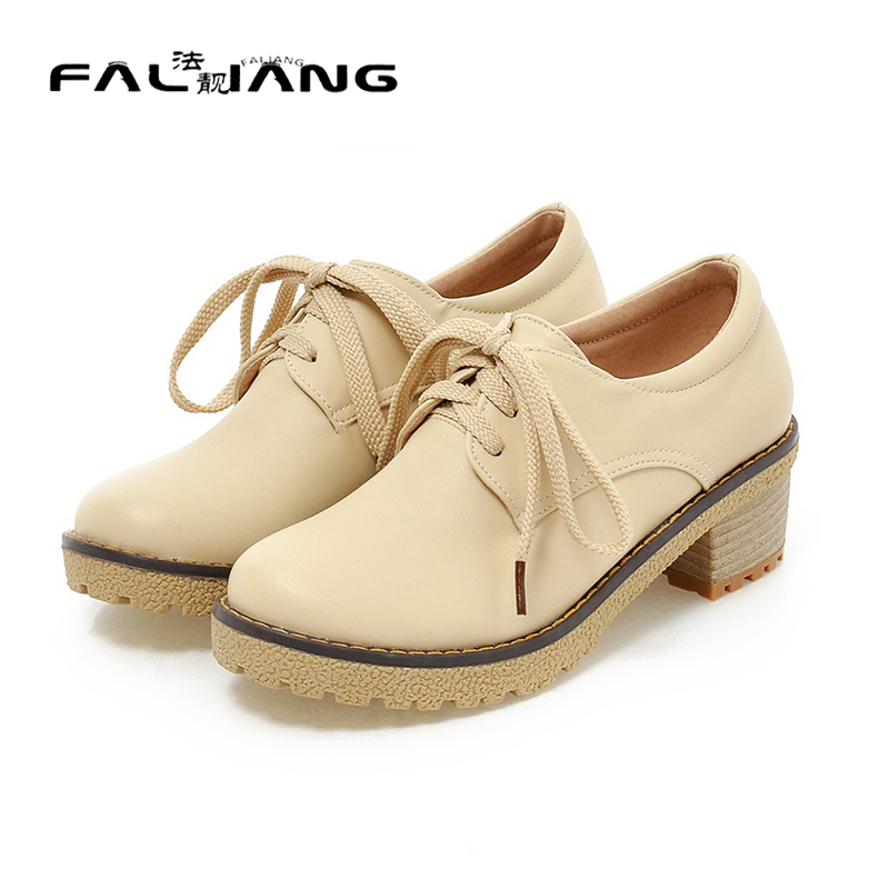 ФОТО New Spring and Autumn Oxford Shoes for Women Fashion Lace Up Flats Shoes Ladies less platform spring /autumn Shoes woman