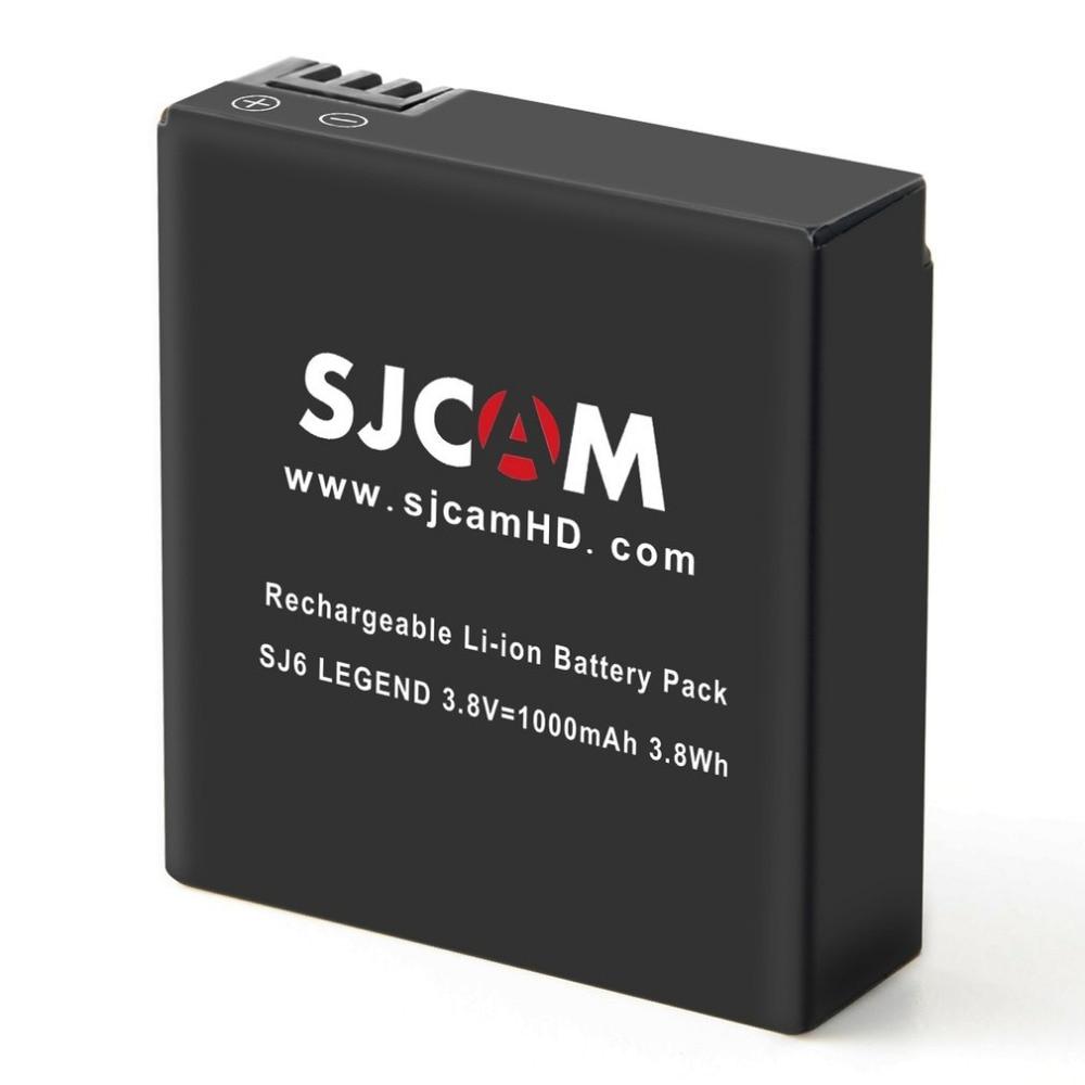 SJCAM Original Sport Action Camera Extra Batteries Accessories 3.8V 1000mAh 3.8Wh Li-ion Additional Battery For SJ6 LEGEND