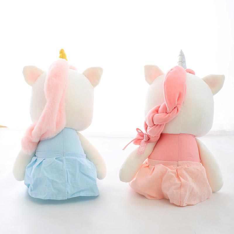 Śliczne pluszowy jednorożec nadziewane pluszowy zwierząt różowy niebieski wysokiej jakości zabawki dla dzieci dzieci urodziny gifr dla dziewczyny