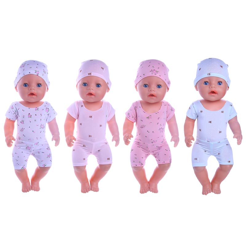 Luckdoll candy color cute swimsuit, suitable for 43 cm baby born zapf doll, childrens best Christmas gift...