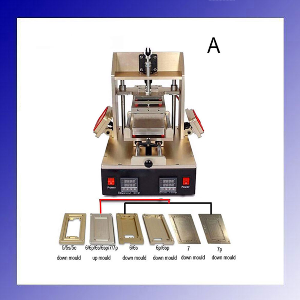 5 in 1 Machine for iPone Bezel Splite + iPhone Frame Laminator + Vacuum LCD Screen Separator + Glue Remover + Preheater 3 in 1 multifunction preheater station middle bezel frame separator machine vacuum screen separator machine