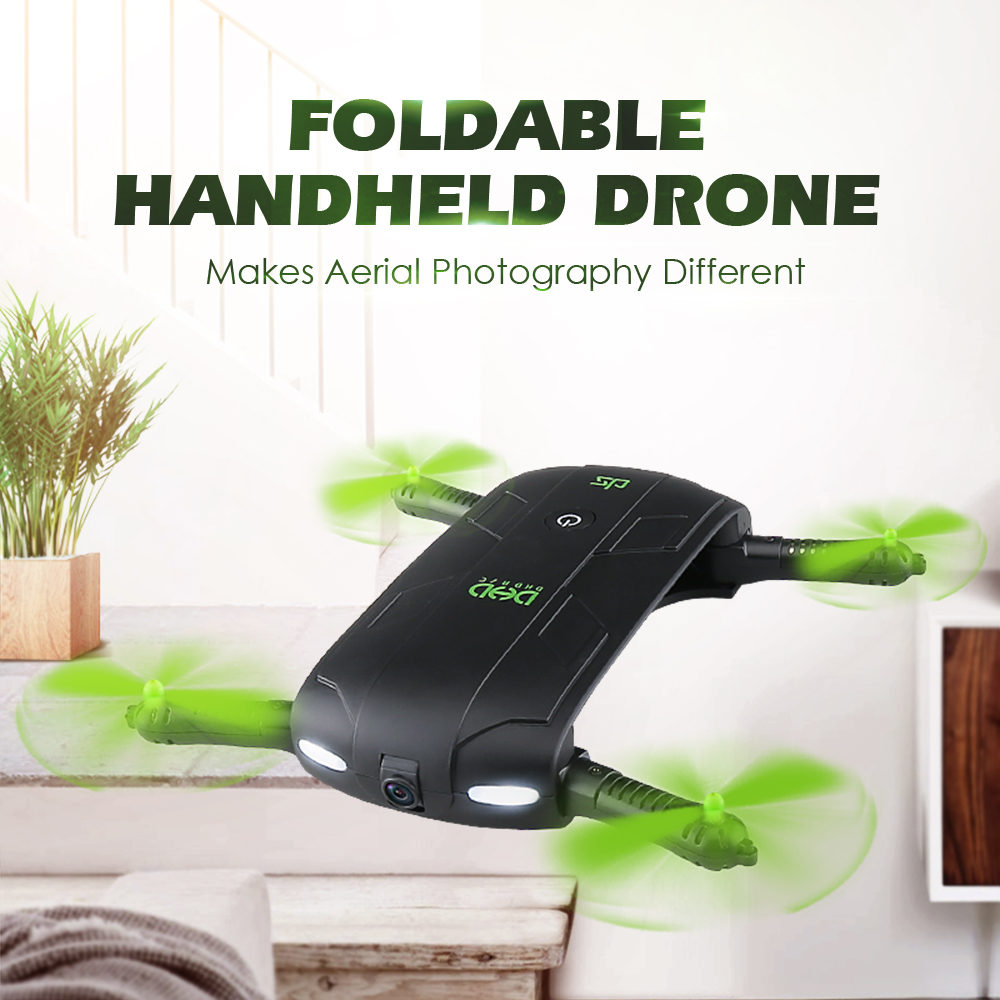 DHD D5 Pocket foldable RC Selfie Drone With HD Camera FPV Quadcopter Helicopter WiFi Phone Mini Drone VS JJRC H37 Elfie 2017 new jjrc h37 mini selfie rc drones with hd camera elfie pocket gyro quadcopter wifi phone control fpv helicopter toys gift page 1