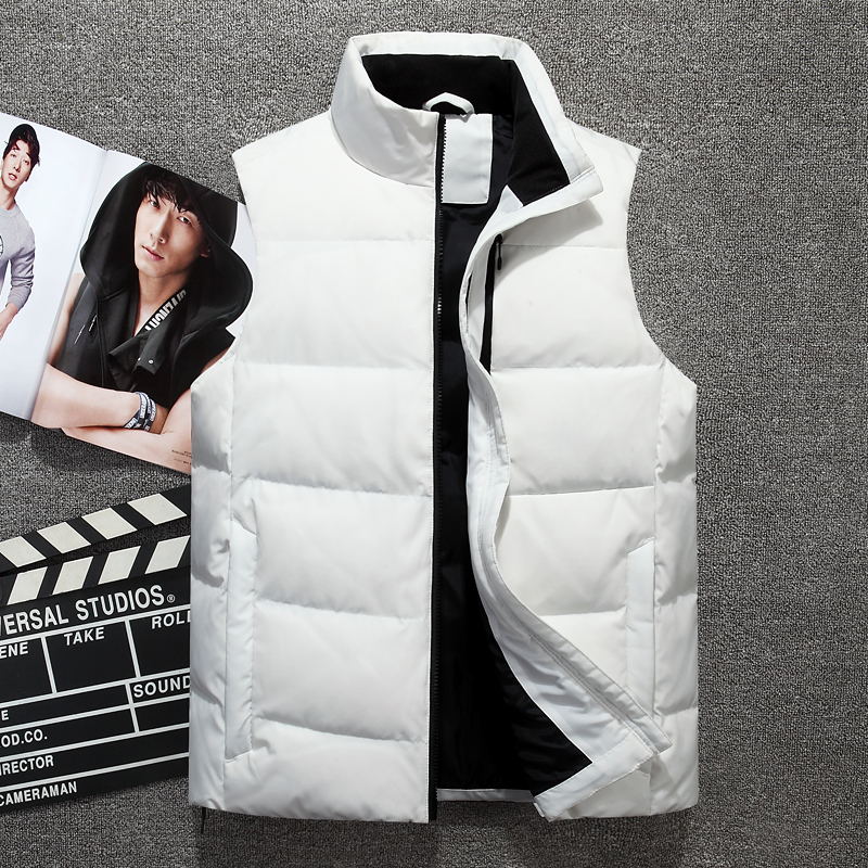 New casual white duck   down   vest Tace & Shark brand mens winter sleeveless jacket and   coats   men's sleeveless Warm   down   vest homme