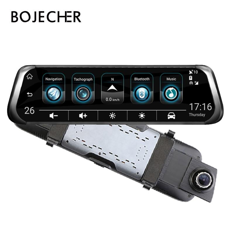 Car DVR with Dual Lens auto Dash Cam HD 1080P with car radar detector/ Rear View Camera with streaming media GPS WIFI ADAS