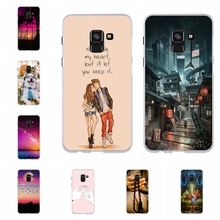 For Samsung Galaxy A8 2018 Case Soft Silicone A530F Cover Animal Pattern Coque