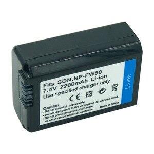 Image 4 - Batería de cámara recargable para Sony Alpha 7R A7R 7S A7S A3000 A5000 A6000 NP FW50 5C A55, 2 uds., 7,4 v, 2.2A, NEX 5N, NP FW50, NPFW50