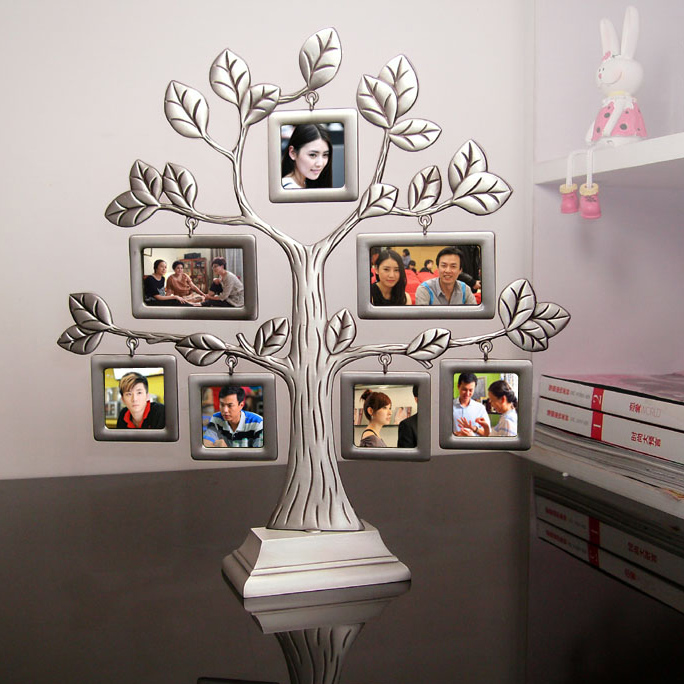 New fashion family tree metal photo frame lovely creative for Home decor gifts