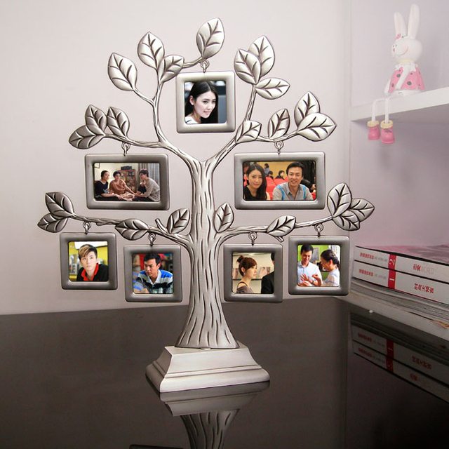 New Fashion Family Tree Metal Photo Frame Lovely Creative Gifts Gift