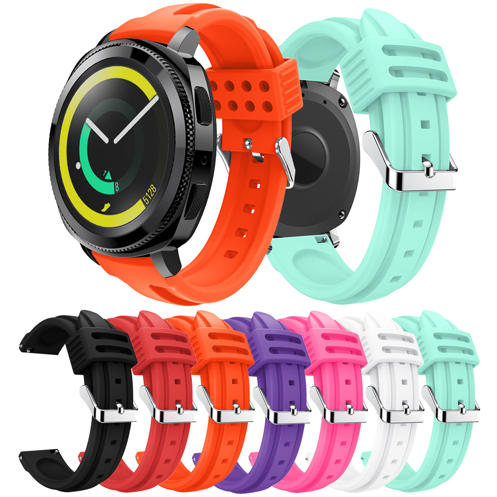Silicon Sport Band For Samsung Gear Sport Band Sports Band Replacement Strap For Gear Sports S4 Smart Watch