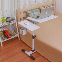 BSDT The Nobel double lifting 360 degree rotation lazy notebook comter desk, bedside to table land mobile radiation