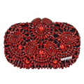 LaiSC Hollow Out flower Indian clutch bag turquoise luxury crystal evening diamante wedding party purse women day clutches SC176