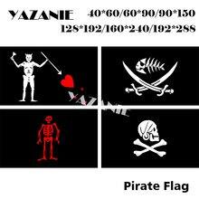 YAZANIE Qualquer Tamanho Bandeira de Pirata do Pirata Barba Negra Peixe Edward Baixo Bandeira Da Bandeira com Espadas Personalizado Bandeira de Pirata de Henry cada