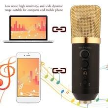 MK-F400TL micrófono vocal MIC profesional diafragma grande estudio de grabación micrófono mini portátil para el teléfono móvil del ordenador