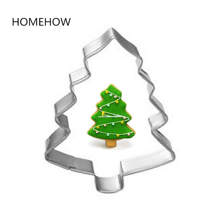 1pclot party supplies christmas tree cookie cutter stainless steel metal christmas party favor tree shape biscuit tools in cookie tools from home garden