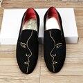 Новая Мода Марка Британский Мужчины Повседневная Поскользнуться На Loafer Обувь Мужская Мокасины Вождения Обувь мужская Квартиры Чистка EPP061