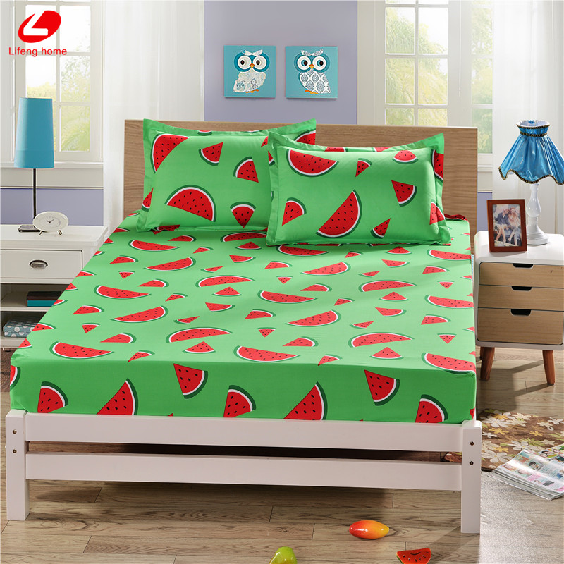 Home textile bed sheet sheet flower mattress cover printing bed sheet elastic rubber bedclothes 180*200cm summer bedspread band 24