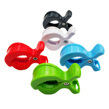 2pc/lot Baby Colorful Car Seat Accessories Plastic Pushchair Toy Clip Pram Stroller Peg To Hook Cover Blanket Mosquito Net Clips(China)
