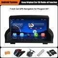 Actualizado Juego Original Android Reproductor multimedia Del Coche de Navegación GPS Del Coche para Peugeot 307 Ayuda WiFi Bluetooth