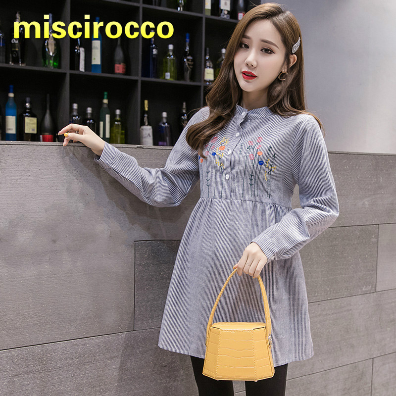 Maternity Clothes Pregnant Women's Spring Shirt Cotton Stripe Shirt Women Clothes Spring Clothes Women Clothing Autumn Top