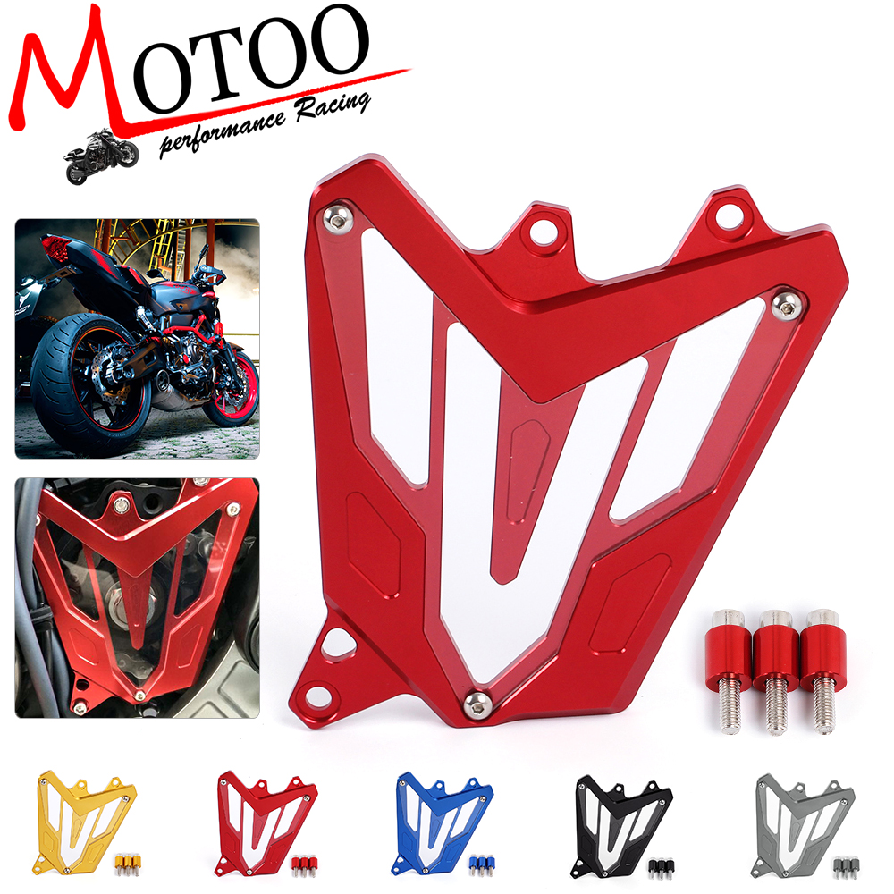Motoo -Motorcycle Scooter Front Sprocket Cover Panel Left Engine Guard Chain Cover Protection For YAMAHA MT-07 FZ-07 2014-2016 mgoodoo cnc aluminum motorcycle left engine guard chain protector front sprocket cover panel for yamaha r3 r25 2014 2015 2016