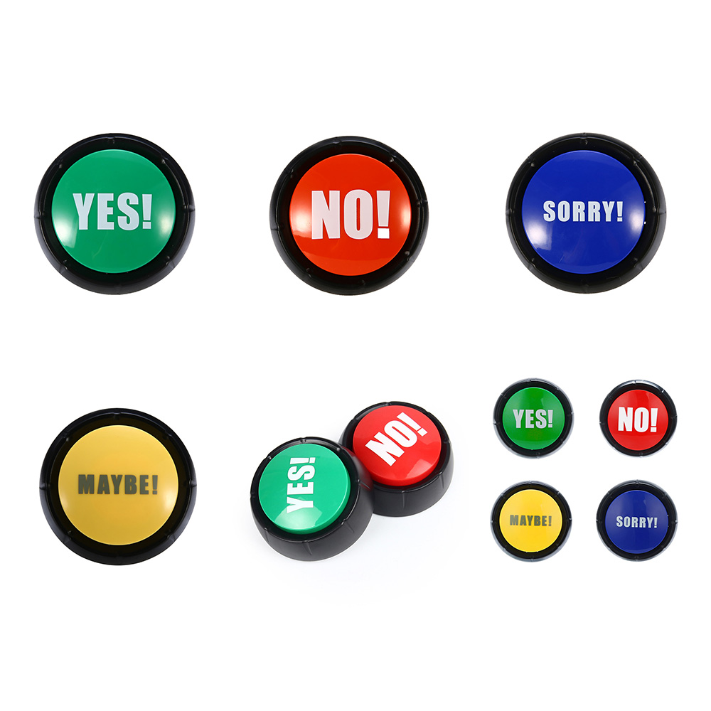 New Creative Sound Button Toys YES And NO SORRY MAYBE Green Red Event & Party Tools Supplies Sounding Toys Holiday Decorations