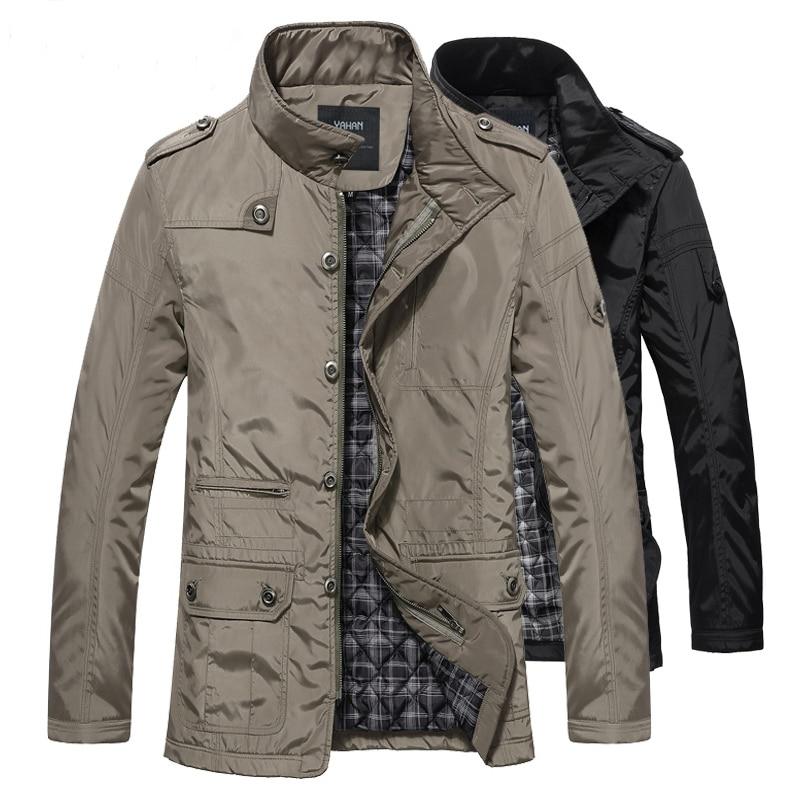 الشتاء سترة الرجال الساخن بيع الرجل سترة كبيرة 5xl عارضة خندق معطف الشتاء الخريف القطن السميك معزول قميص