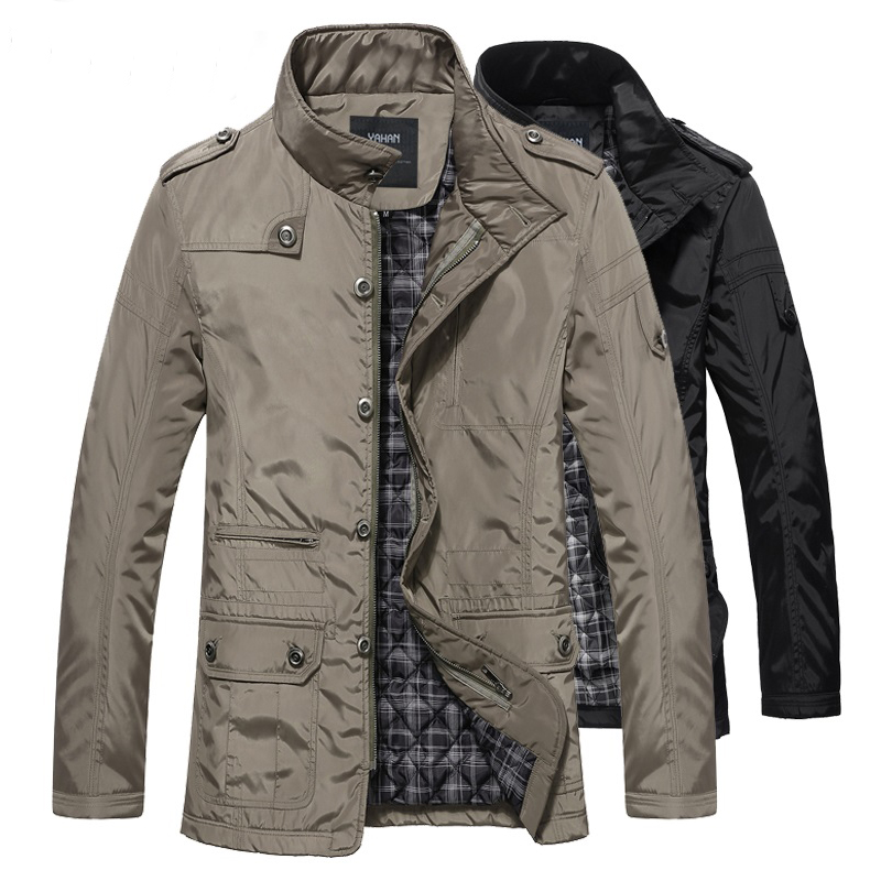 Winter jacket men hot sale man jacket large 5XL casual   trench   winter coat autumn thick cotton insulated outerwear