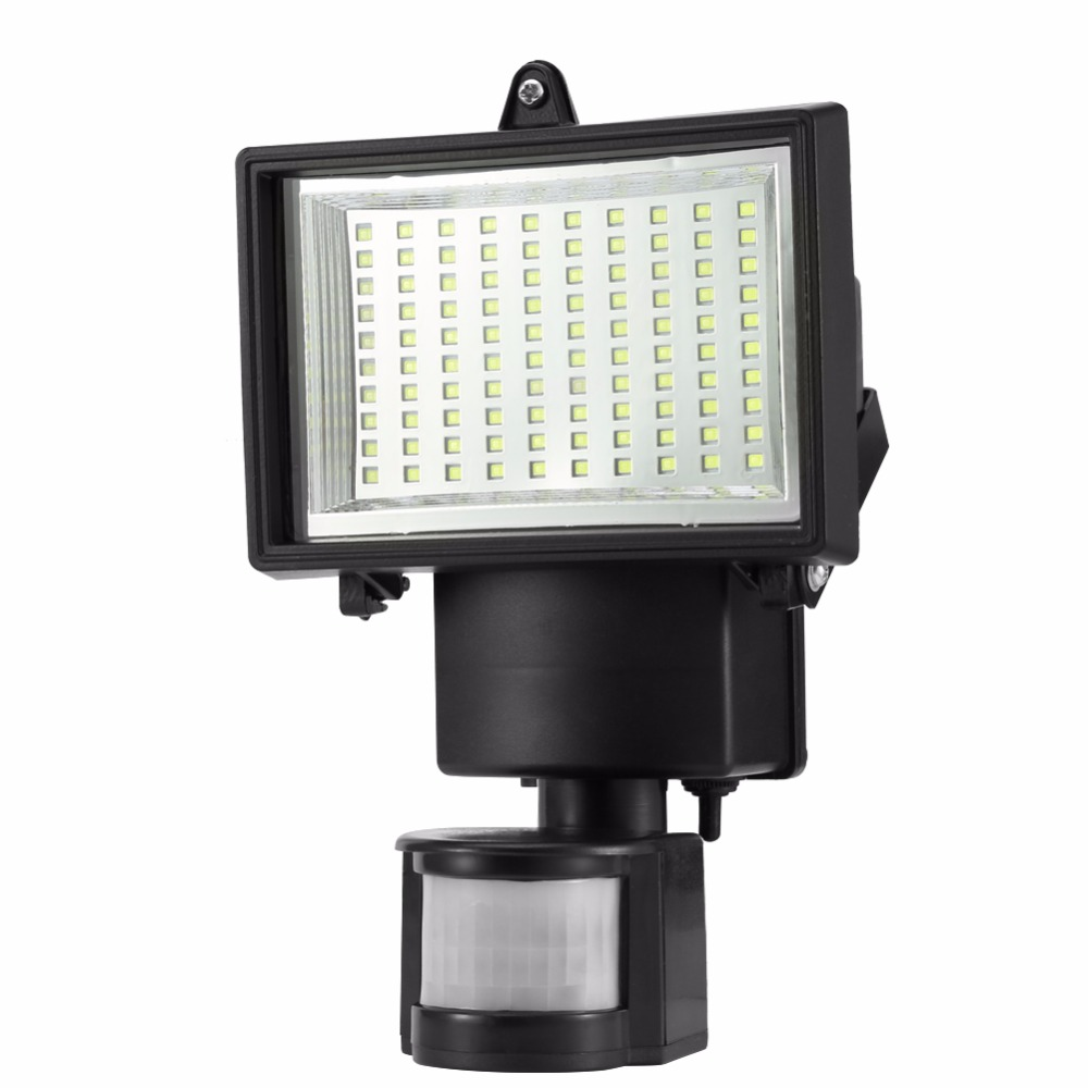 Garden Solar Light Lamp Outdoor Sensor Wall Lamp 100 LED SMD Light for Garage Drive Security