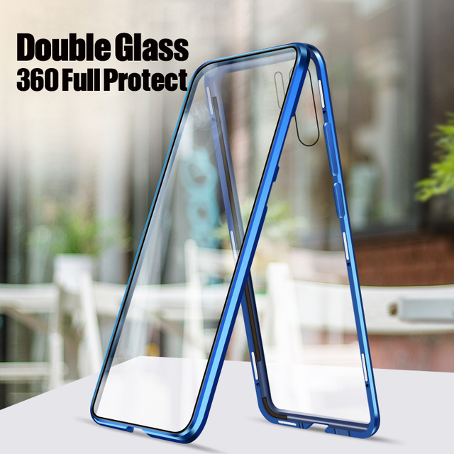 360 Full Magnetic Case For Huawei P30 Pro P20 Mate 20 Metal Bumper 12D Front Touch Film Tempered Glass Cover Huawei P30 Pro Case