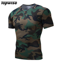 Topwise Men Running T-Shirt Outdoor Sports Gym Fitness Tight Tennis Badminton Short Sleeve Stretch Jogging Shirt Muscle Tee Tops