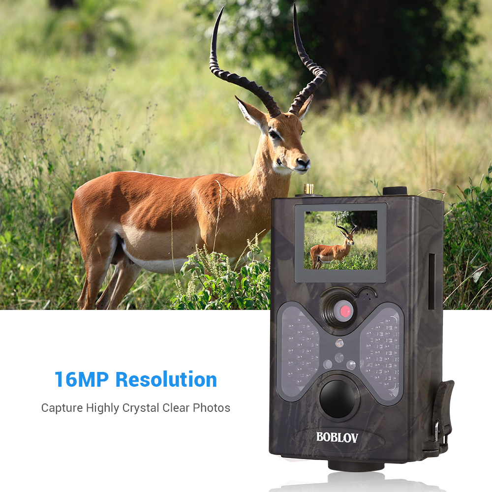 Image 3 - 16MP Trail Hunting Cameras 8GB Crad 4G Network SMTP Auto MMS and SMS Command Infrared Wildlife Surveillance Camera IR Photo Trap-in Hunting Cameras from Sports & Entertainment