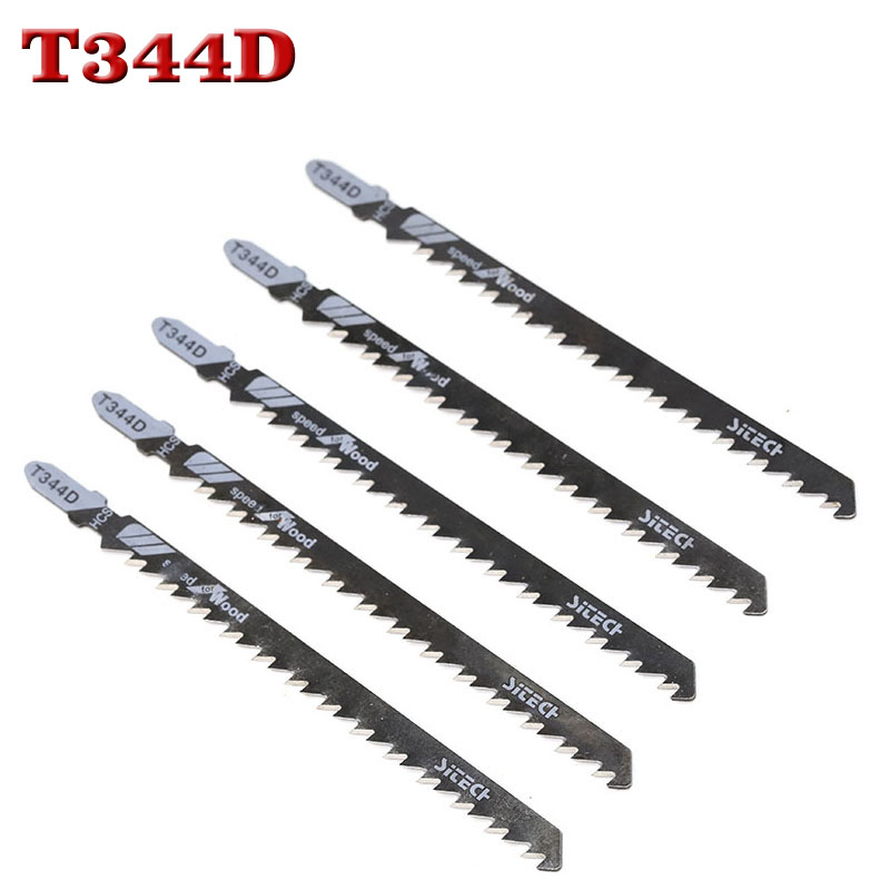 5PCS 135mm T344D Super-long Saw Blades Clean Cutting For Wood PVC Fibreboard Reciprocating Saw Blade Power Tools