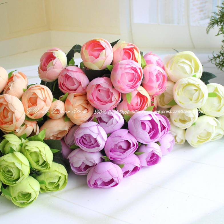 1pc artificial spring 12 heads big size tea rose bouquet decorative 1pc artificial spring 12 heads big size tea rose bouquet decorative silk flowers weddingpartyhome decoration 5 colors in artificial dried flowers from mightylinksfo