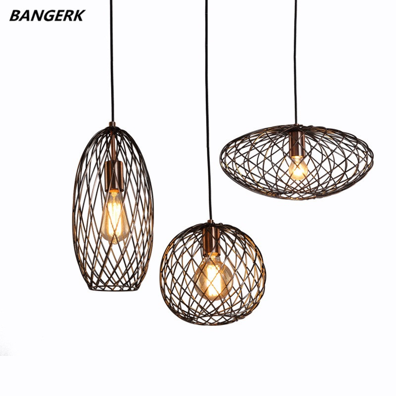 Nordic Дизайн Лофт Эдисон светодиодный подвесной светильник железа ретро подвесной светильник Промышленный светильники подвесные светильни