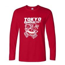 Tokyo Ghoul Anime T Shirts Harajuku Long Sleeve Cotton Casual Top Tee