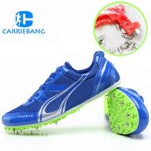 Шипы для обуви легкая обувь с шипами для бега для длинных прыжков сетчатые дышащие мужские кроссовки спортивная обувь