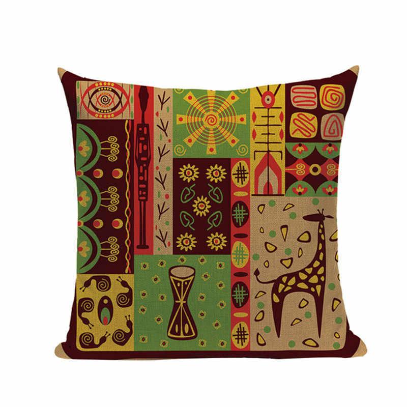 Afrykańska kobieta obicia na poduszki taniec pani afryka geometryczne poduszki obejmuje poszewki kolor tkaniny sypialnia ozdoba sofy etniczne