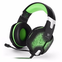 Cheaper Computer Stereo Gaming Headphones Kotion EACH G100 Best casque Deep Bass Game Earphone Headset with Mic LED Light for PC Gamer