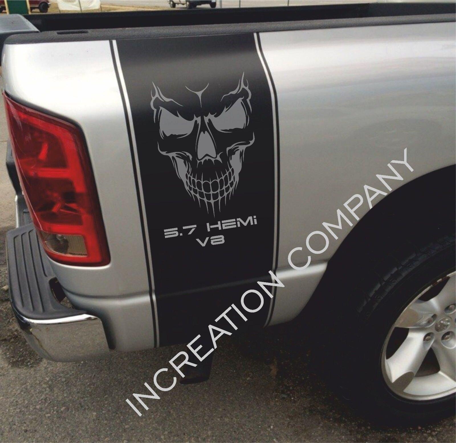 Dodge Ram 1500 2500 3500 Vinyl Decal Racing Sticker Stripe Hemi Mopar 5.7L T-265
