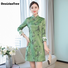 2019 chinese cheongsam oriental style dresses elegant women modified modern qipao dress traditional
