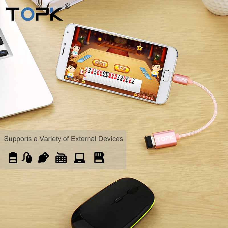 topk micro usb 2.0 otg cable and usb otg adapter or converter android mobile phones