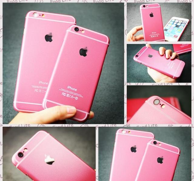 online retailer 275da 58789 US $2.54 |Original For Apple iPhone 6plus Case Luxury Pink Color Plastic  Hard Cover For iPhone 6 plus 5.5 Fundas Phone Cases KH296 6P on ...