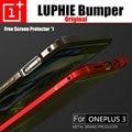 Oneplus 3 chuva a3000 caso luphie original ultra fina de alumínio bumper armação de metal armadura border para um mais 3 casos difíceis 3 T