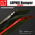 oneplus 3 bumper Rain A3000 LUPHIE original case ultra thin aluminum metal frame armor border for one plus 3 hard cases 3T