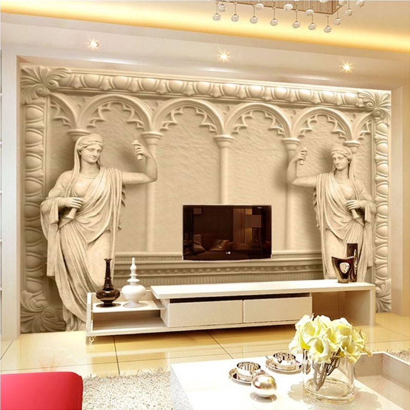 Custom Photo Wallpaper European Style 3D Stereo Relief Mural Simple Fashion Living Room TV Backdrop Murals Non-woven Wallpaper