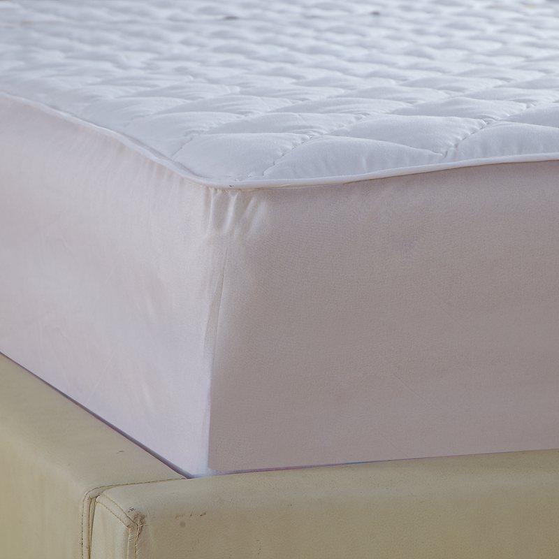 white quilting bed pad fitted sheets linens sanding polyester fabric multi-size mattress protection cover 10