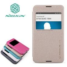 Оригинальный Nillkin Sparkle Флип кожаный с Smart View Окно задняя крышка телефона чехол для Sony Xperia E4G