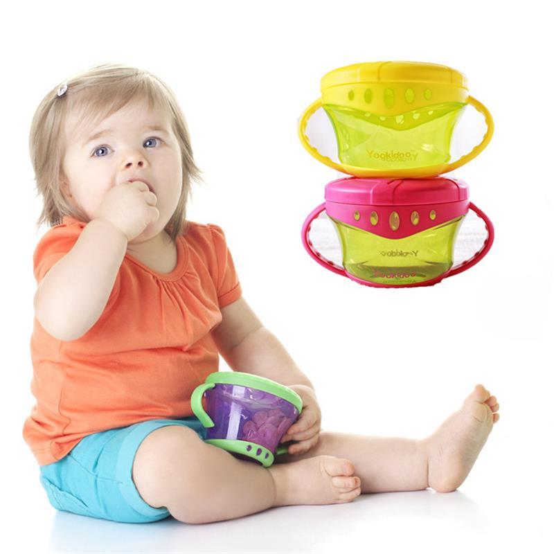 Baby Snack Non Spill Cup Soft plastic portable Portable storage - Memakan kanak-kanak - Foto 6