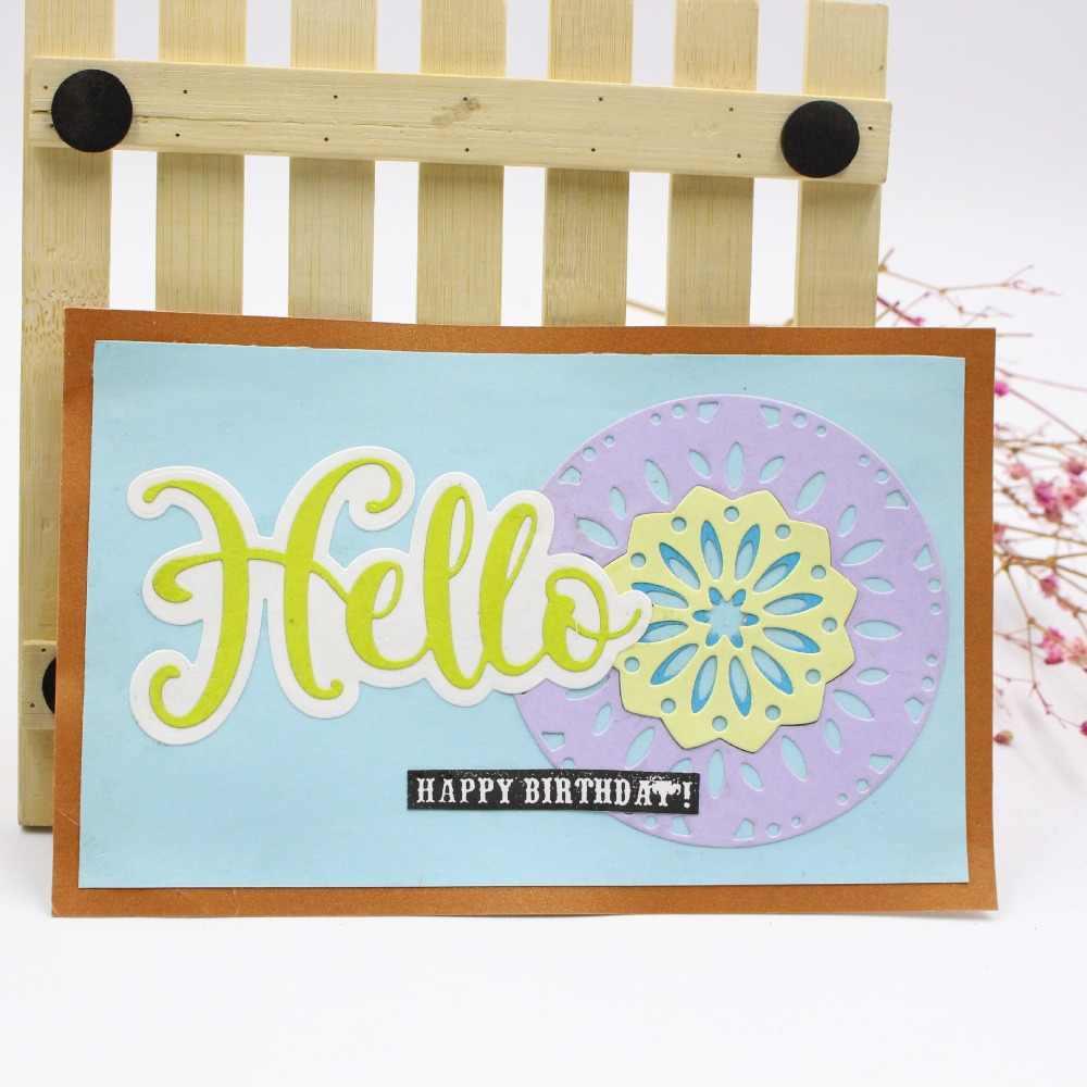 Hello приветственное письмо DIY Металл трафареты для пресс формы