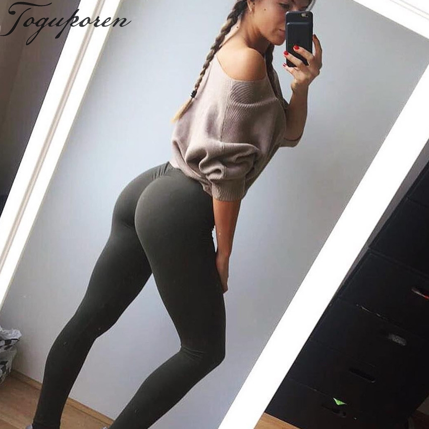 2018 Summer Women Casual Leggings Fitness Skinny Butt Lifter Elastic Pants Sporting Workout Plain Sexy Leggings 3 Color
